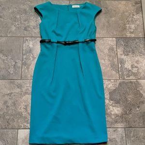 Size 4 Calvin Klein dress teal color